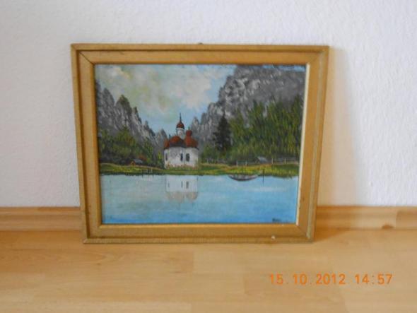 Skt. Bartolomä am Königssee oder so - (Bilder, Kunst, Gemälde)