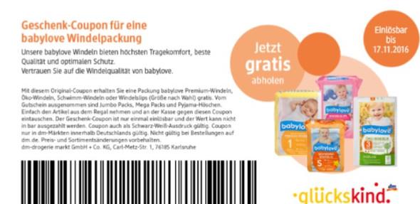 Windelcoupon  - (Baby, gratis, DM)