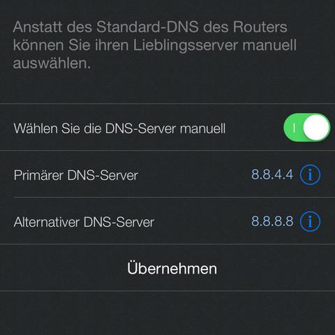 Einstellungen vom Google Server - (Computer, Internet, Router)