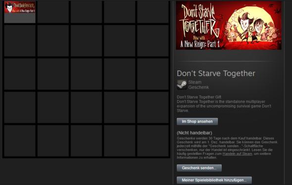 Screenshot - (Geschenk, Steam, Dont starve together)