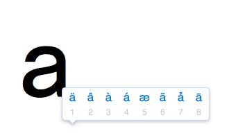 Mehrere Buchstaben auf einer Taste (Mac OSX) - (Tastatur, Schrift, Schriftart)