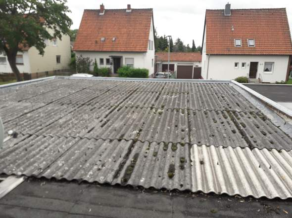 Garage an Garage mit Nachbar, Dach ohne Trennung. Wie soll Neu gedeckt werden wenn der Nachbar nicht mitmacht?