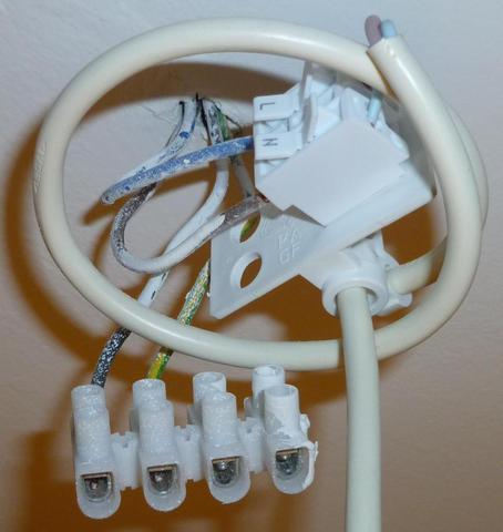 Deckenlampenanschluss - (elektro, Lampe, Lichtschalter)