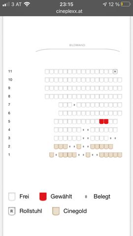 Doppelsitze im Kino buchen?
