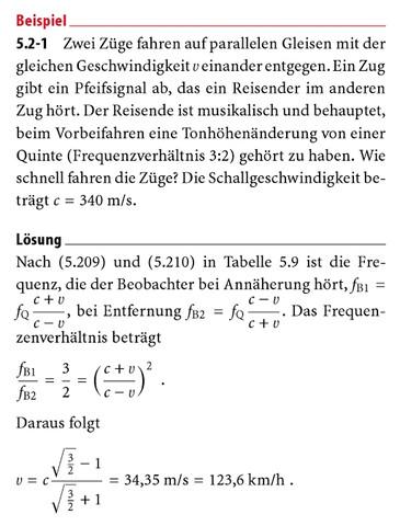 Doppler-Effekt Physik Aufgabe wie nach v umstellen? (Mathematik ...