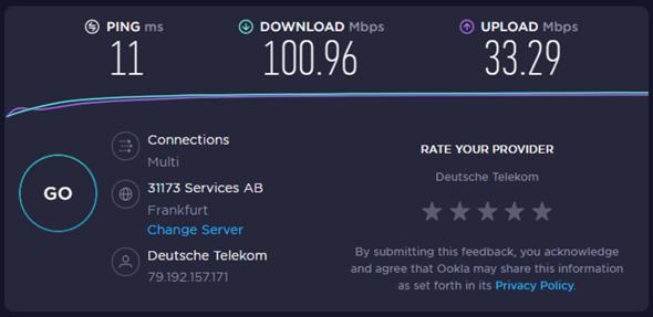 Download-Rate verhält sich sehr komisch?