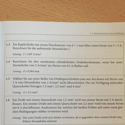 Drahtdurchmesser berechnen wie? (Mathematik, Physik, Elektrotechnik)