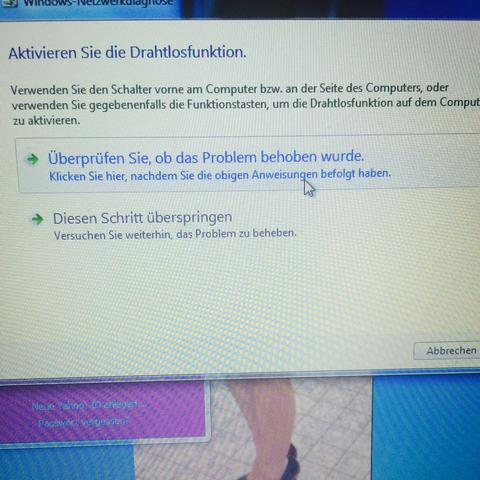 Hilfe  - (Computer, PC, W-Lan Verbindung)