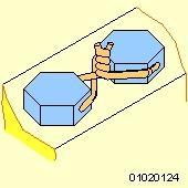 Drahtsicherung Beispiel - (Technik, Metall, Mechanik)