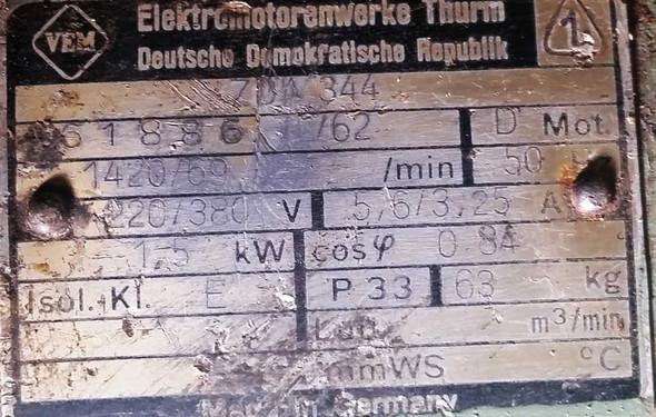 Typenschild Motor - (Strom, Anschluss, Drechselbank)