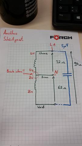 Drehrichtungsänderung beim Kondensatormotor (Motor, Außenseiter ...