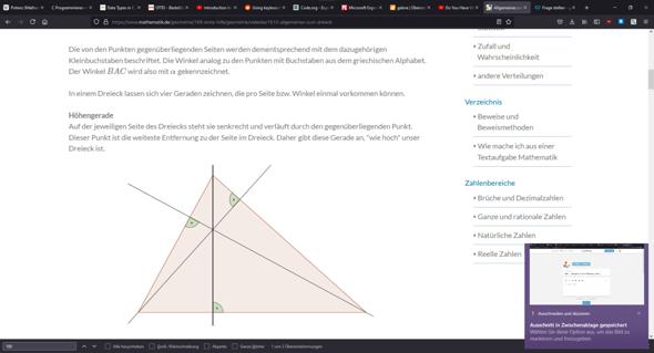"""Dreieck - Höhengerade """"weiteste Entfernung zur Seite""""?"""