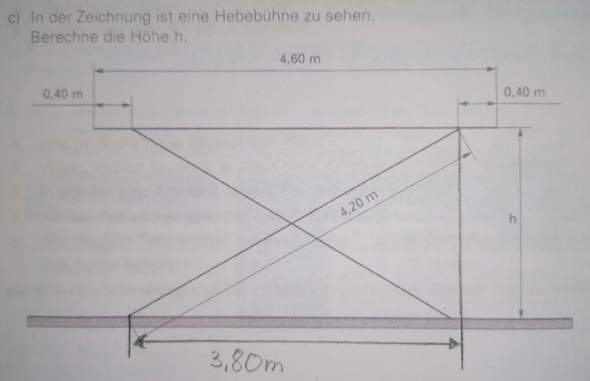 Dreieck höhe berechnen?