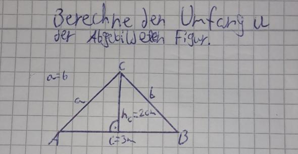 Dreieck Umfang Berechnen?