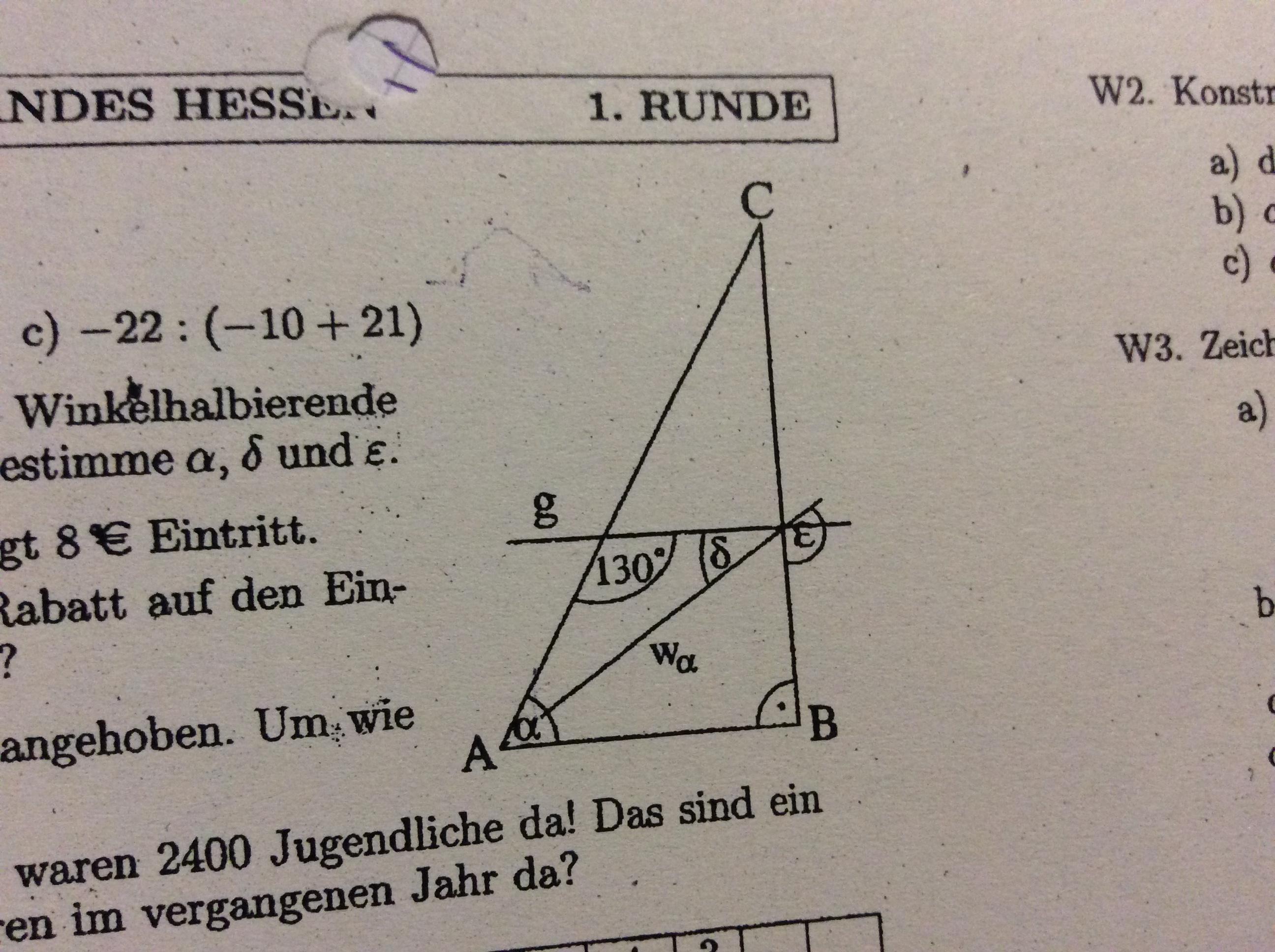 Dreiecke mit Winkelhalbierenden berrechnen ? (Schule, Mathe, Geometrie)
