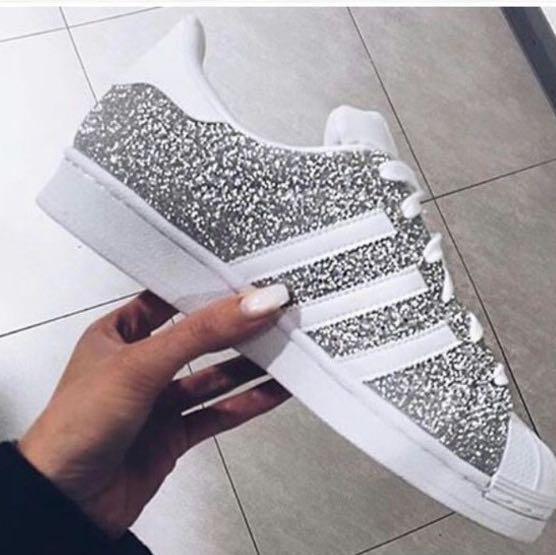 83a8aee0a38e0b Adidas Superstar Silber Glitzer 38 adidasschuhedamensale.de