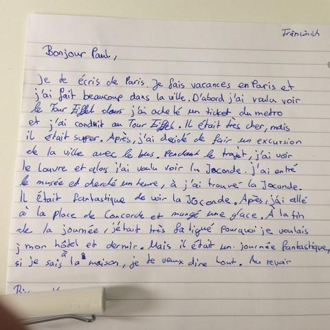 Dringend Französisch Korrektur Falls Notwendig Brief