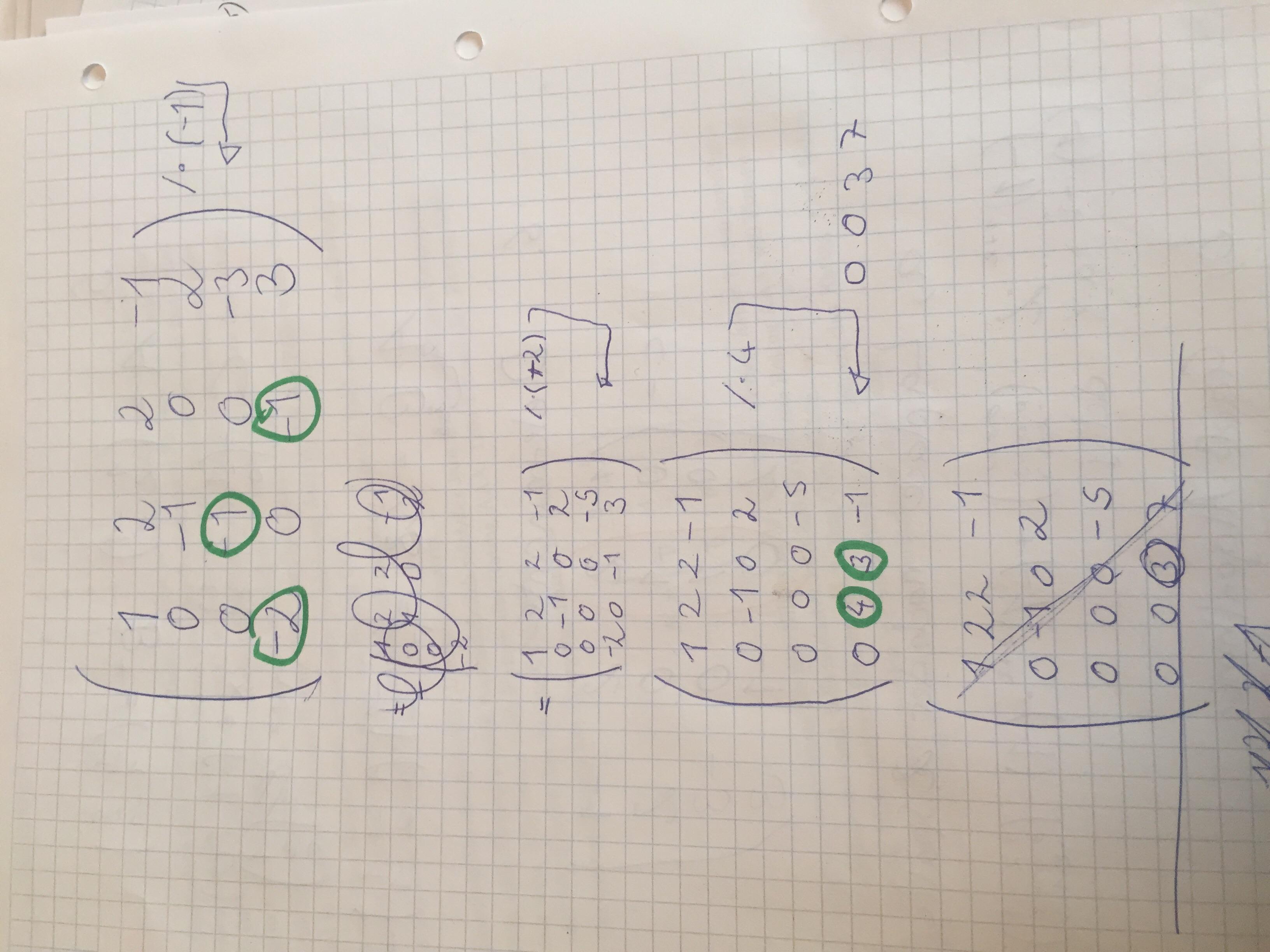 Dringend! Wie Berechne Ich Eine 4x4 Matrix Determinante