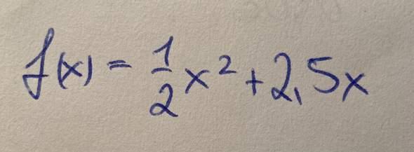 (Dringende Hilfe!) Mathe: Kann das jmd in die Scheitelform umschreiben?