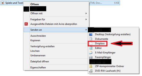 Kontextmenüeintrag Dropbox nach Deinstallation - (Windows 8, Dropbox, kontextmenue)