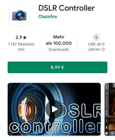 DSLR Controller App, ist sie das Geld wert?