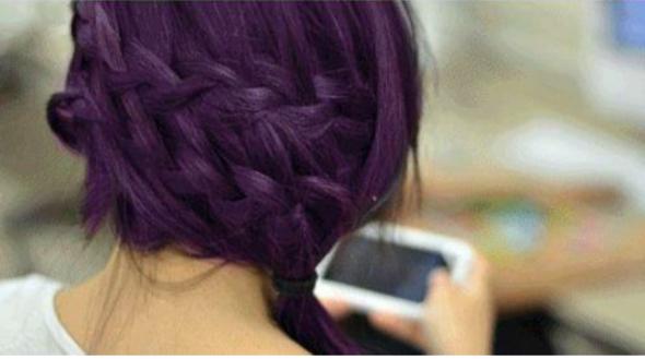 Dunkel Lila Haarfarbe Gesucht Haare
