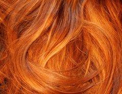 Kupfer haare mit henna