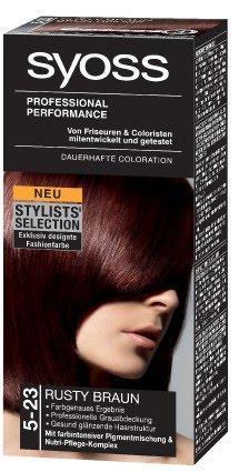 Schwarze haarfarbe mit rotstich