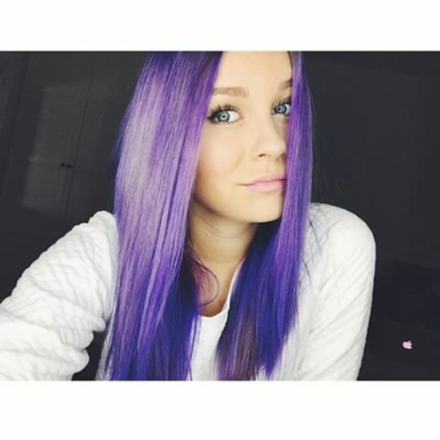 Haare violett farben directions