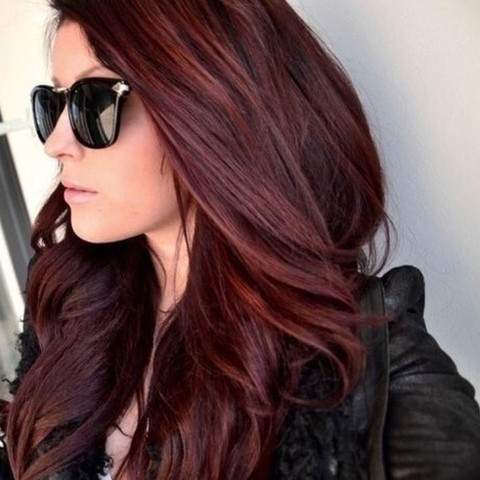 Dunkelbraune Haare Rot Färben Dunkelrot Gibt Es Haarfarben Für