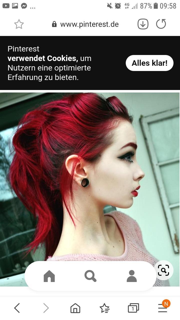 Dunkele Haare knallrot färben?