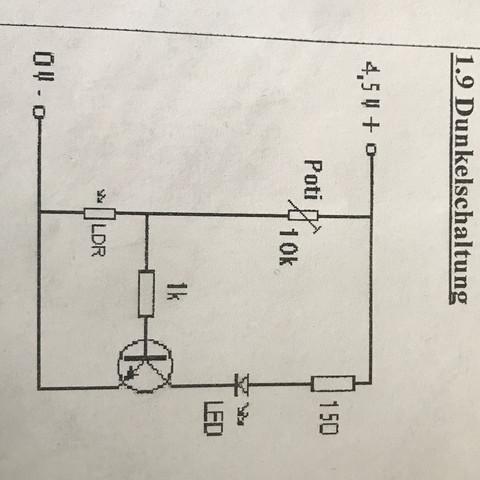 dunkelschaltung in technik schule technologie physik. Black Bedroom Furniture Sets. Home Design Ideas