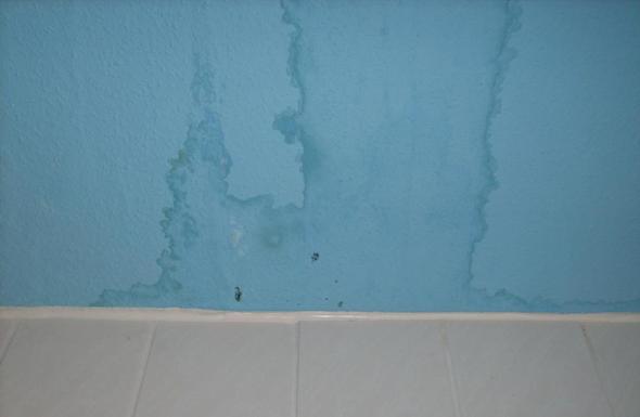 Dunkle Flecken an der Decke,was kann das sein? (Badezimmer ...