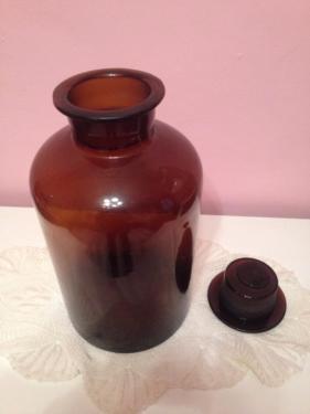 Apothekerflasche mit Stopfen - (DIY, Heimwerker, Glasbohren)