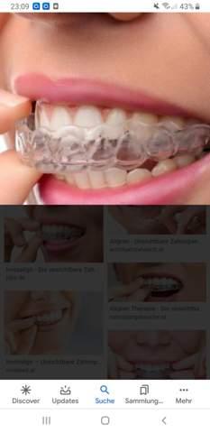 - (Zähne, Zahnspange, durchsichtig)