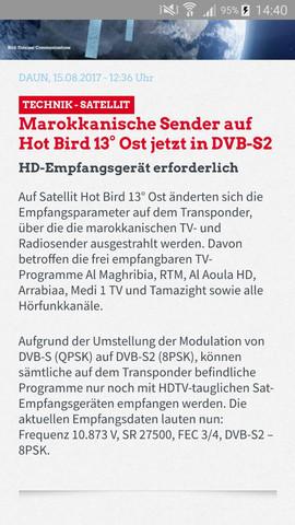 Hotbird 13 frequenzen deutschland