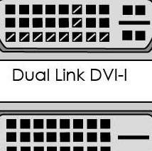 Oben - Dual Link DVI-I Unten - Dual Link DVI-D - (Computer, PC, Grafikkarte)