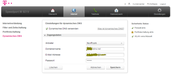 DynDNS Eintrag - (Technik, Informatik, Website)