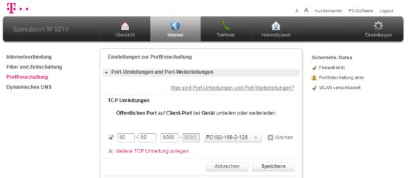 Portweiterleitung - (Technik, Informatik, Website)