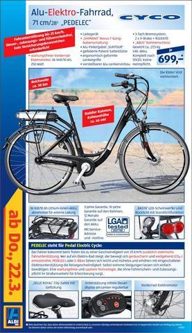Cyco E-Bike - (Fahrrad, lol, ALDI)