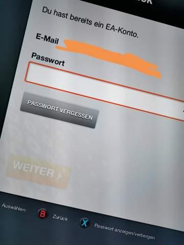 Ea Konto Passwort Vergessen