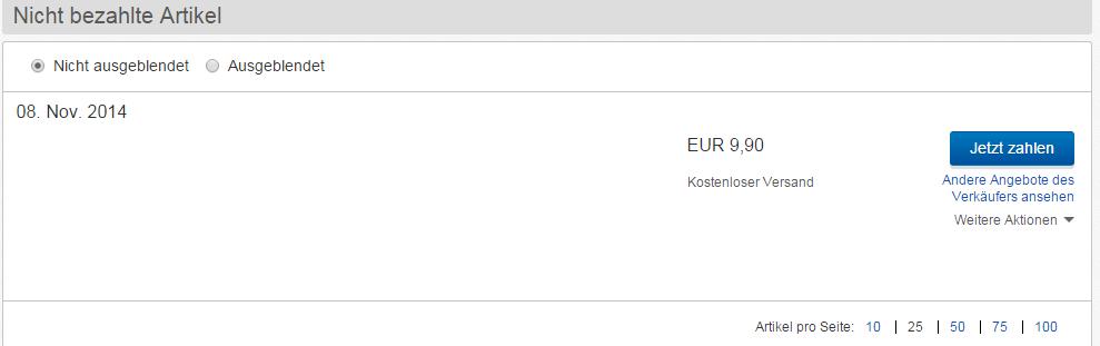 Ebay Kauf Zurücktreten