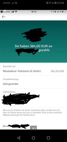 Paypal Geld Gesendet Offen