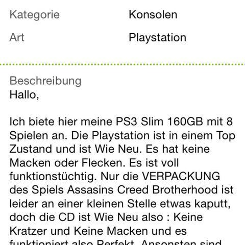 Bild 3 ( Anzeige ) - (Spiele, PS3, eBay)