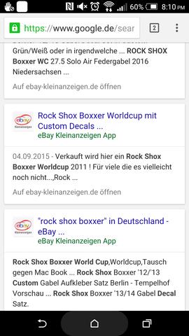 Google Ergebnis zur Anzeige(mitte) - (Recht, eBay Kleinanzeigen)