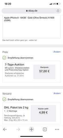 EBay Verkauf Ausland?