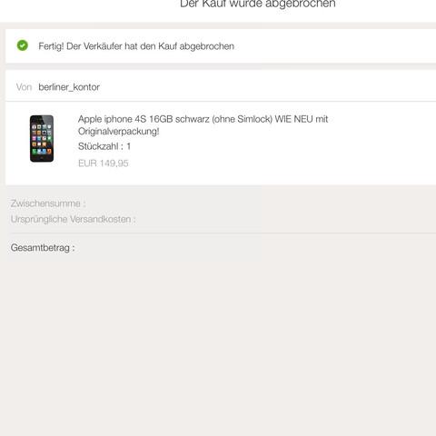 ebay Abbruch - (Internet, iPhone, kaufen)