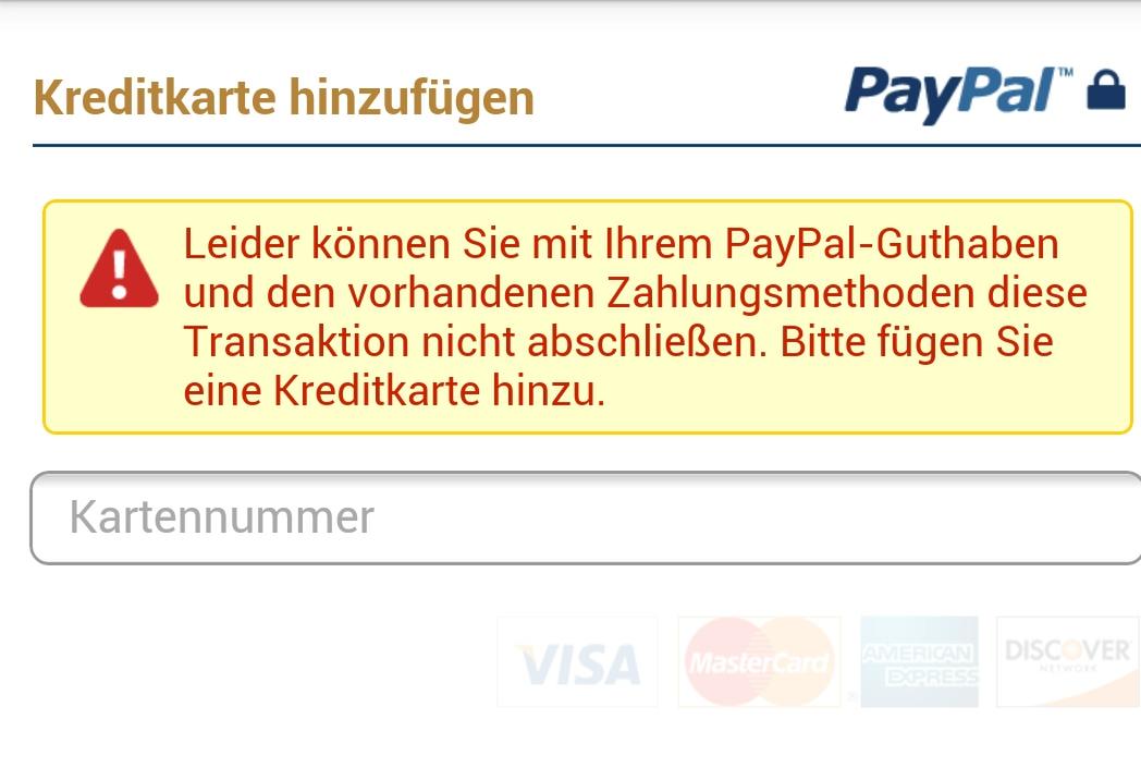 paypal einloggen geht nicht