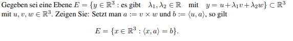 Ebene R^3 Beweis?