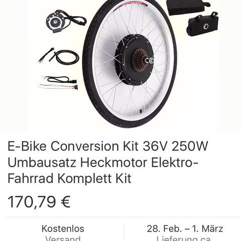 Ps: ware kommt direkt aus China, so stehts bei eBay  - (Fahrrad, Umbau, ebike)